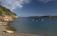 coast line at ibiza, spain - stock photo