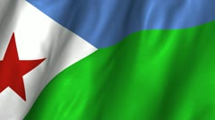 Djibouti Wavings Flag Stock Footage