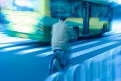 bike rider moving - stock photo