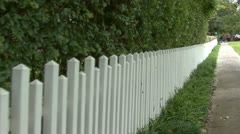WHITE PICKET FENCE - HD Stock Footage