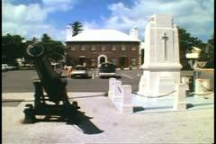 Kings Square, St. George, Bermuda, no people, wide shot Stock Footage