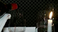 Wine tasting. Pouring wine into a glass. Stock Footage