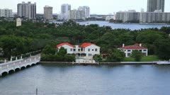 Miami Aerial View with mansions/Star Island Stock Footage