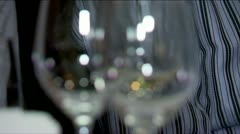 Wine tasting in the restaurant. Stock Footage