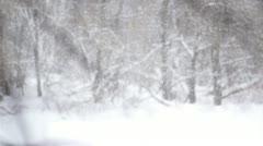 Heavy winter snow Stock Footage