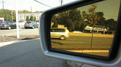 Traffic Seen Reflected on Left Side Mirror Stock Video Stock Footage