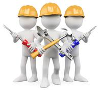 3d workers - team of work Stock Illustration