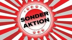 Sonder Aktion - stock footage