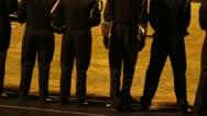High School Band In Uniform Stock Footage