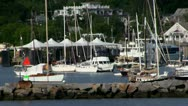 Sailboats Vineyard Haven Martha's Vineyard Stock Footage