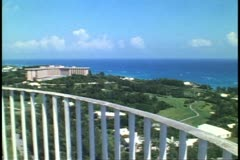 Gibb's Hill Lighthouse, Bermuda, panoramic view Bermuda and ocean - stock footage