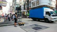 City traffic of Hongkong timelapse - stock footage