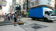 City traffic of Hongkong timelapse Stock Footage