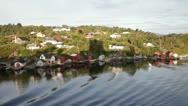 Navigate at boknafjord at dawn Stock Footage