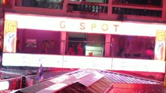 Prostitutes Bangkok Thailand red light district - stock footage