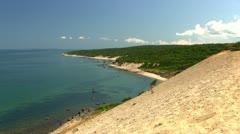 Sand Cliffs Martha's Vineyard; 5 Stock Footage
