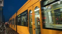 Tram in Dresden Stock Footage