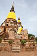 Stock Photo of wat yai chai mongkol, ayutthaya, thailand