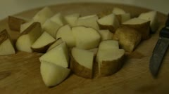 Cut Potatoes Stock Footage