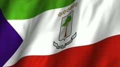 Equatorial Guinea Waving Flag Stock Footage