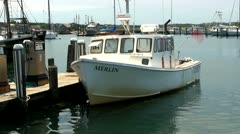 Menemsha Harbor Martha's Vineyard; 3 Stock Footage