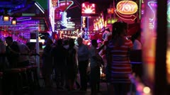 Adult entertainment red light district Stock Footage