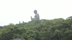 Giant Buddha statue, Hong Kong, China Stock Footage