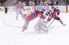 """Hockey match """"spartak""""-""""cska"""" Stock Photos"""