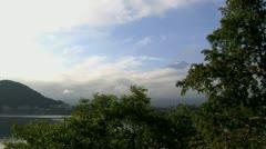 Mount Fuji morning left slide timelapse Stock Footage