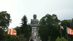 Giant Buddha statue, Hong Kong, China 3 Stock Footage