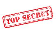Top secret rubber stamp Stock Illustration