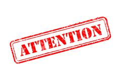 attention rubber stamp - stock illustration