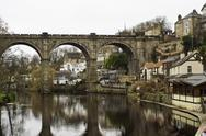 Stone viaduct at knaresborough Stock Photos