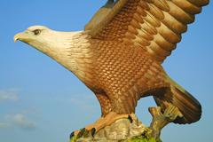 Big eagle statue - symbol of Langkawi island Stock Photos