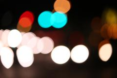 Bokeh Out of Focus Lights at Night - stock photo