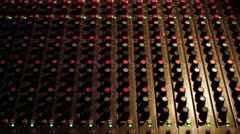 Audio Mixing Board Zoom In Stock Footage