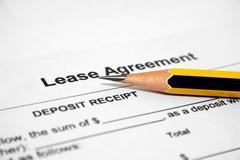 Lease agreement Stock Photos