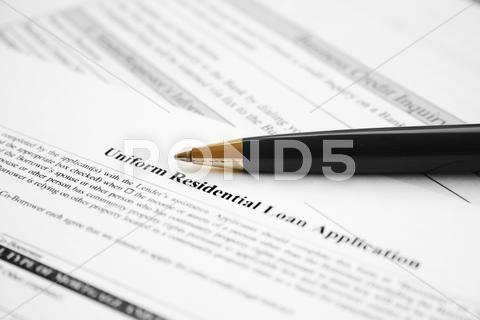 Stock photo of residential loan application