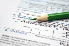 Health form - date of accident Stock Photos