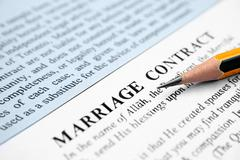 Marriage contract Stock Photos