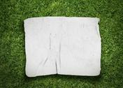 Old fabric on grass Stock Illustration