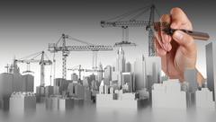 Stock Illustration of hand drawn abstract building