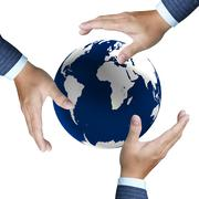 Stock Illustration of earth globe in his hands