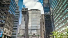 Stock Video Footage of MetLife Building in Manhattan New York City Beautiful Timelapse NYC USA Park Ave