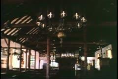 St. Peter's Church, St. George, Bermuda, interior, sanctuary, no people Stock Footage
