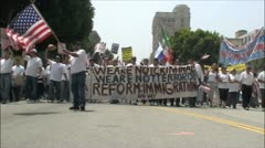 Massive Immigration Reform Protest - Los Angeles, California Stock Footage