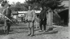 POWs Chinese Prisoners of War Korean 1950 (Vintage Film Footage) 4601 Stock Footage