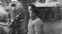 POWs Chinese Prisoners of War Korean 1950 (Vintage Film Footage) 4602 Stock Footage