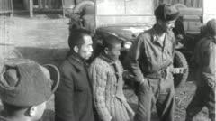 POWs Chinese Prisoners of War Korean 1950 (Vintage Film Footage) 4603 Stock Footage