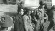 Stock Video Footage of POWs Chinese Prisoners of War Korean 1950 (Vintage Film Footage) 4603